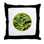Hosta Smiley Face Throw Pillow