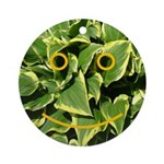 Hosta Smiley Face Ornament (Round)