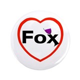 "I love Fox 3.5"" Button (100 pack)"