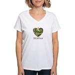 I Love Hostas Women's V-Neck T-Shirt