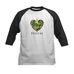 I Love Hostas Kids Baseball Jersey