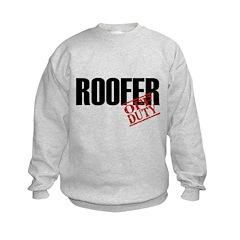 Off Duty Roofer Kids Sweatshirt