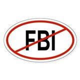 FBI Oval Decal