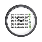 No more hostas Wall Clock