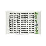 No more hostas Rectangle Magnet (100 pack)