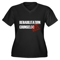 Off Duty Rehab Counselor Women's Plus Size V-Neck