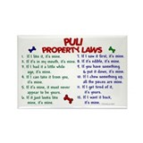 Puli Property Laws 2 Rectangle Magnet