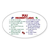 Puli Property Laws 2 Oval Decal