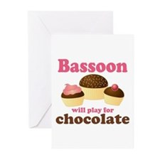 Funny Chocolate Bassoon Greeting Cards (Pk of 10)