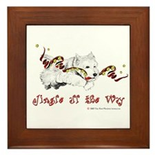 Westhighland Terrier Holiday Framed Tile