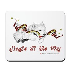 Westhighland Terrier Holiday Mousepad