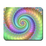 Pastel Vortex Fractal Mousepad