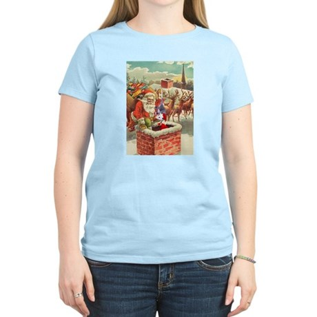 Santa's Helper Possum Women's Light T-Shirt