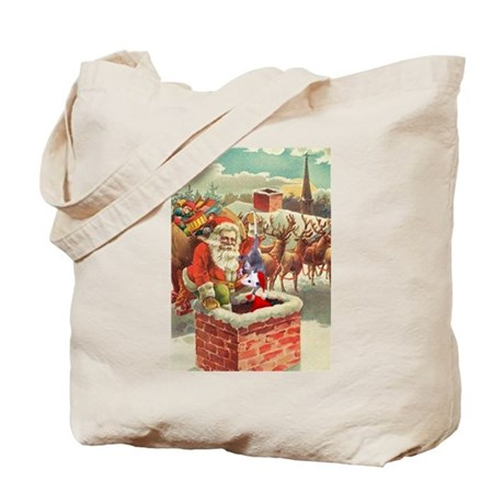 Santa's Helper Possum Tote Bag