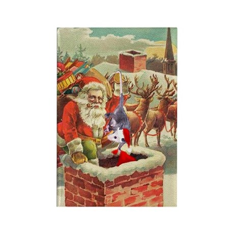 Santa's Helper Possum Rectangle Magnet (100 pack)