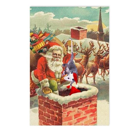Santa's Helper Possum Postcards (Package of 8)
