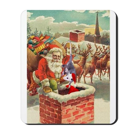 Santa's Helper Possum Mousepad