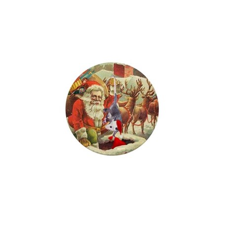 Santa's Helper Possum Mini Button (10 pack)