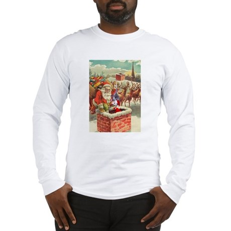 Santa's Helper Possum Long Sleeve T-Shirt