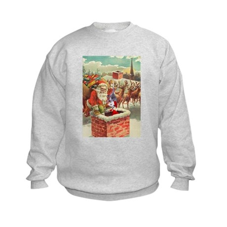 Santa's Helper Possum Kids Sweatshirt