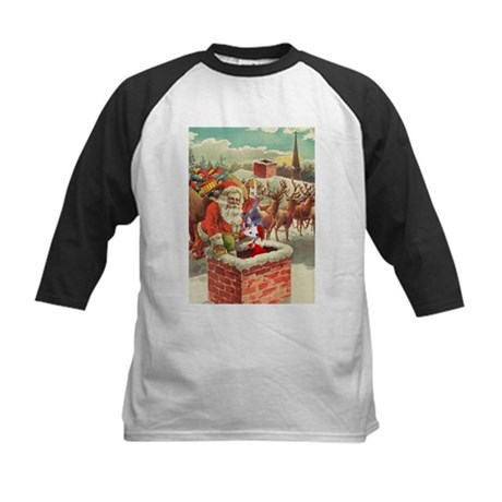 Santa's Helper Possum Kids Baseball Jersey