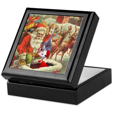 Santa's Helper Possum Keepsake Box