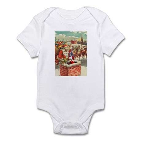 Santa's Helper Possum Infant Bodysuit