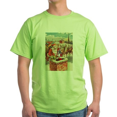Santa's Helper Possum Green T-Shirt