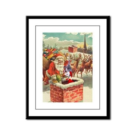 Santa's Helper Possum Framed Panel Print