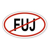 FUJ Oval Decal