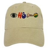 I hate football (rebus) Baseball Cap