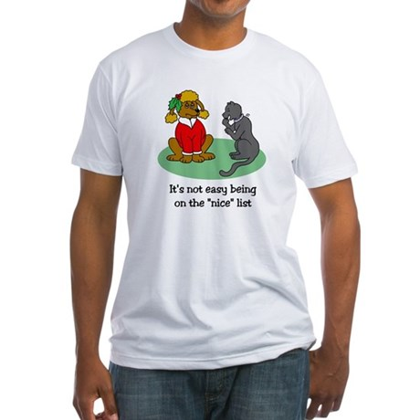 Funny Christmas Fitted T-Shirt