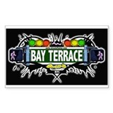Bay Terrace (Black) Rectangle Decal