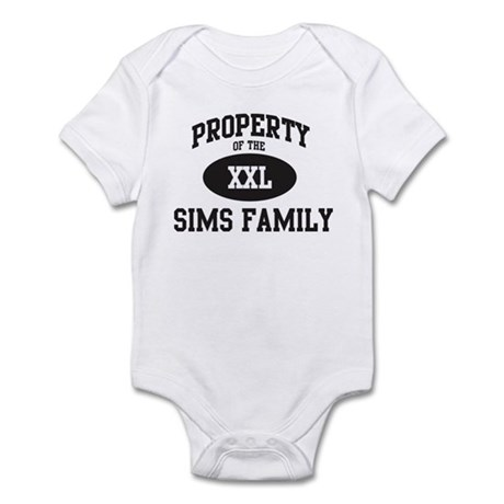 Property of Sims Family Infant Bodysuit