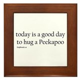 Hug a Peekapoo Framed Tile