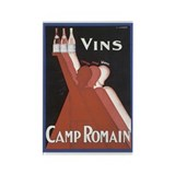 Vintage Camp Romain Wine Adve Rectangle Magnet (10