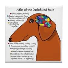 Weiner Brain (red) Tile Coaster
