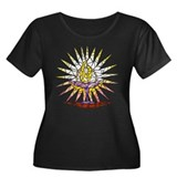 """Stained Glass"" Chalice Womens Scoop Neck T (Plus)"