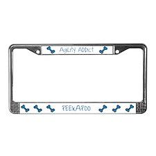 Peekapoo Agility Addict License Plate Frame