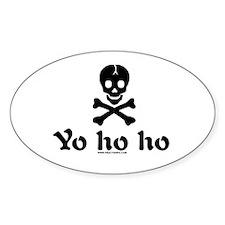 Yo Ho Ho Oval Decal