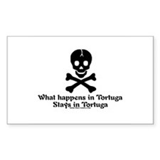 Stays In Tortuga Rectangle Decal