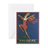 Vintage Valisere Lingerie Ad Greeting Card