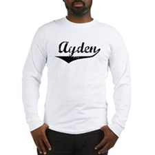 Ayden Vintage (Black) Long Sleeve T-Shirt