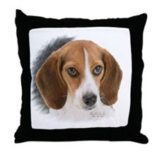 Beagle close up Throw Pillow
