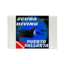 Scuba Diving Puerto Vallarta Rectangle Magnet