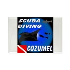 Scuba Diving Cozumel Rectangle Magnet