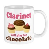 Funny Chocolate Clarinet Coffee Mug