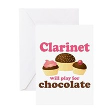 Funny Chocolate Clarinet Greeting Card