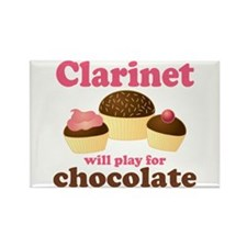 Funny Chocolate Clarinet Rectangle Magnet