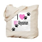 I Love My Abyssinian Tote Bag